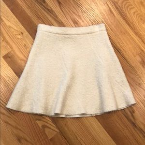 Zara cream A-line skirt super cute! XS